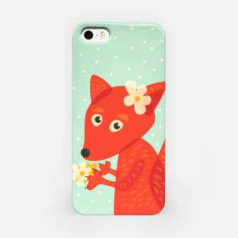 Thumbnail image of Cute Fox And Flowers iPhone Case, Live Heroes