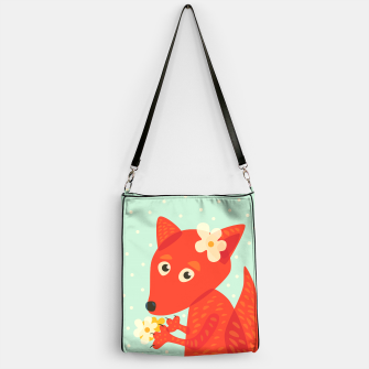 Thumbnail image of Cute Fox And Flowers Handbag, Live Heroes