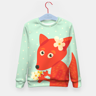 Thumbnail image of Cute Fox And Flowers Kid's Sweater, Live Heroes