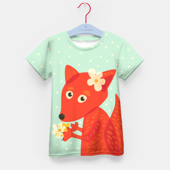 Thumbnail image of Cute Fox And Flowers Kid's T-shirt, Live Heroes
