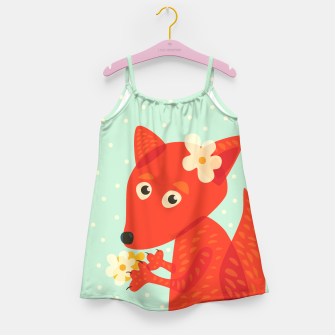 Thumbnail image of Cute Fox And Flowers Girl's Dress, Live Heroes