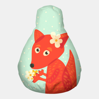 Thumbnail image of Cute Fox And Flowers Pouf, Live Heroes