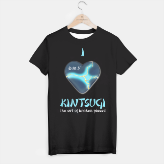 Miniatur i love kintsugi - the art of broken pieces T-shirt, Live Heroes