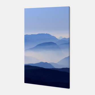 Miniatur Blue Mountains Meditative Relaxing Landscape Scene Canvas, Live Heroes