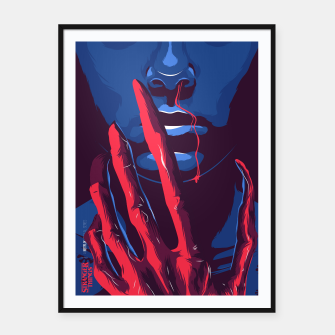 Thumbnail image of Stranger Things Framed poster, Live Heroes