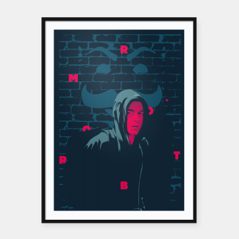 Thumbnail image of mr robot Framed poster, Live Heroes