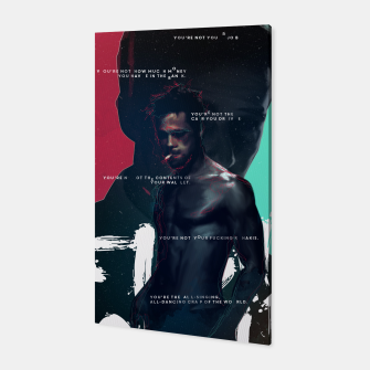 Thumbnail image of Fight Club - Alternative movie poster Canvas, Live Heroes