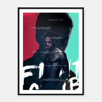 Thumbnail image of Fight Club - Alternative movie poster Framed poster, Live Heroes