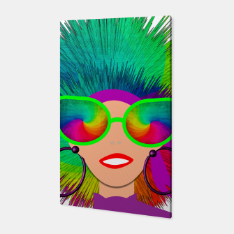 Thumbnail image of Hippy Trippy Rainbow Chick Canvas, Live Heroes