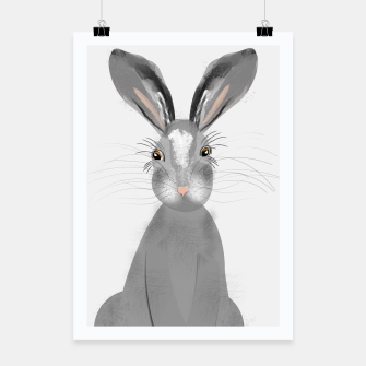 Thumbnail image of Sweet Whimsy Grey Hare Poster, Live Heroes