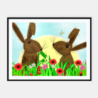 Thumbnail image of Spring Poppy Fields  March Hares Framed poster, Live Heroes