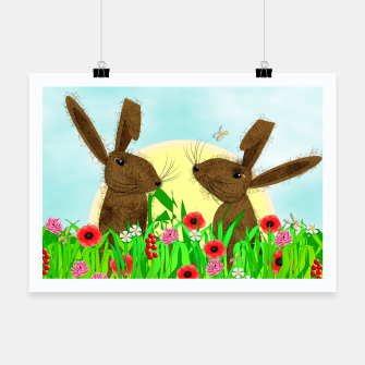 Thumbnail image of Spring Poppy Fields  March Hares Poster, Live Heroes