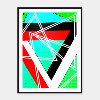 Thumbnail image of Geometric Optical Illusion Fusion Framed poster, Live Heroes