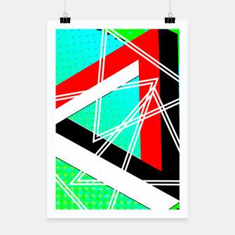 Thumbnail image of Geometric Optical Illusion Fusion Poster, Live Heroes