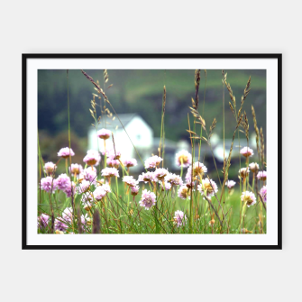 Thumbnail image of Purple Clover Wild Flowers  Framed poster, Live Heroes