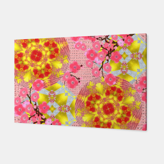 Thumbnail image of Oriental Delight Pink Cherry Blossom Print Canvas, Live Heroes