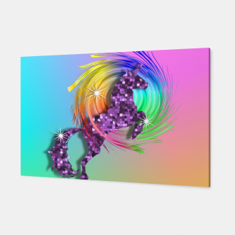 Thumbnail image of /Ombre Rainbow Fantasy Unicorn Canvas, Live Heroes