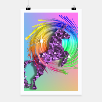 Thumbnail image of /Ombre Rainbow Fantasy Unicorn Poster, Live Heroes