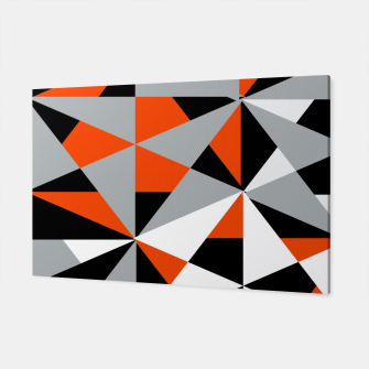 Thumbnail image of Funky Geometric Orange Grey Mixed Print Canvas, Live Heroes