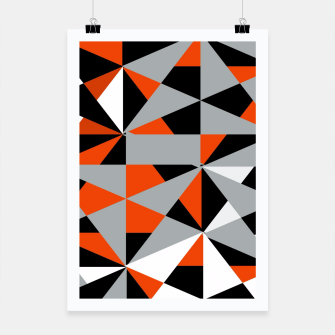 Thumbnail image of Funky Geometric Orange Grey Mixed Print Poster, Live Heroes
