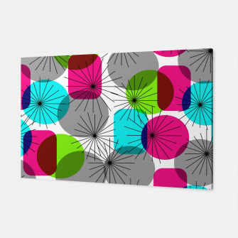 Thumbnail image of Bod Colorful Retro Geometric Star Bursts Canvas, Live Heroes