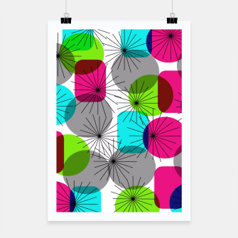 Thumbnail image of Bod Colorful Retro Geometric Star Bursts Poster, Live Heroes