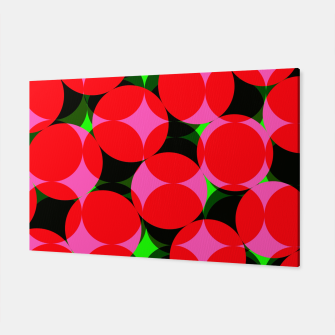 Thumbnail image of Dotty Spotty Geometric Pink Red Green Mix Canvas, Live Heroes