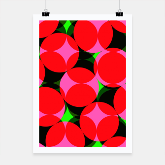 Thumbnail image of Dotty Spotty Geometric Pink Red Green Mix Poster, Live Heroes
