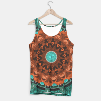 Thumbnail image of Floral Kaleidoscope Teal Orange Brown   Tank Top, Live Heroes
