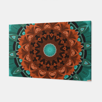 Thumbnail image of Floral Kaleidoscope Teal Orange Brown   Canvas, Live Heroes