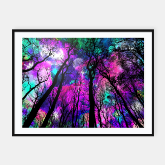 Magic forest Framed poster obraz miniatury