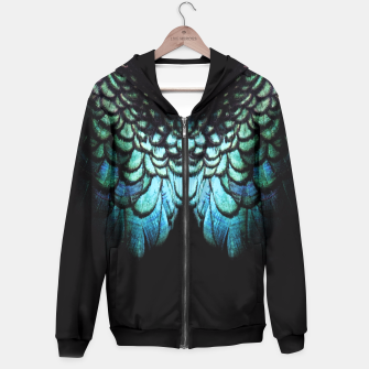 Miniatur blue feathered collier Hoodie, Live Heroes