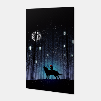Forest wolf Canvas thumbnail image