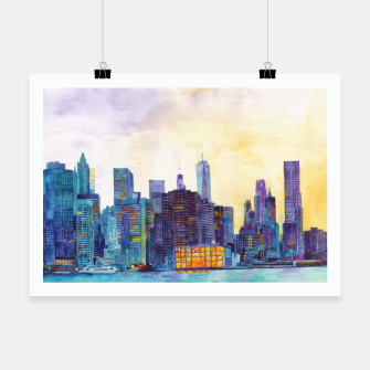 Thumbnail image of NYC panorama Plakat, Live Heroes