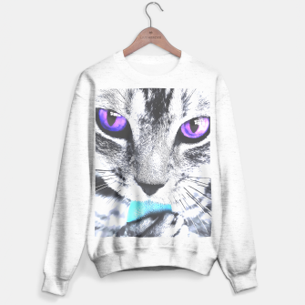 Purple eyes cat Sweater regular obraz miniatury