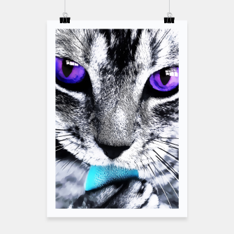 Purple eyes cat Poster thumbnail image