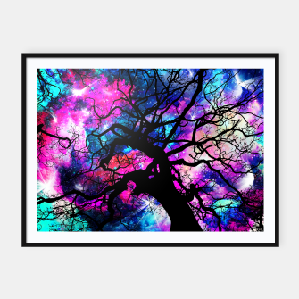 Starfield Tree Framed poster obraz miniatury