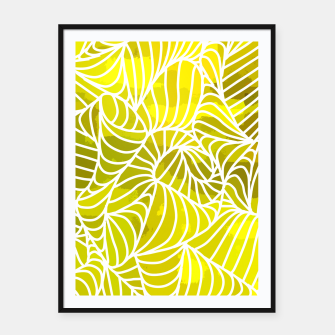 Thumbnail image of ptrn yellow Framed poster, Live Heroes