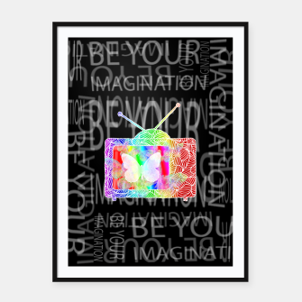 Thumbnail image of byi Framed poster, Live Heroes