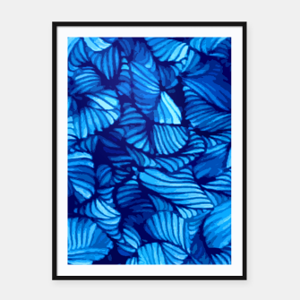 Thumbnail image of blue Framed poster, Live Heroes