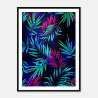 Thumbnail image of Tropical Leaf Framed poster, Live Heroes