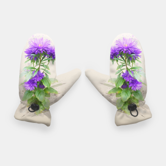 Thumbnail image of Purple Flowers. watercolors Gloves, Live Heroes