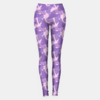 Thumbnail image of Purple Butterflies Leggings, Live Heroes