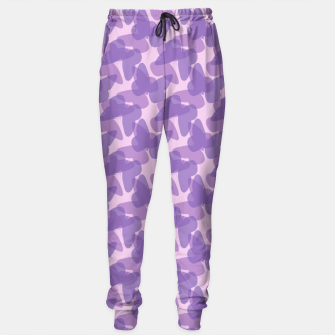 Thumbnail image of Purple Butterflies Sweatpants, Live Heroes