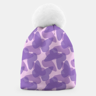Thumbnail image of Purple Butterflies Beanie, Live Heroes