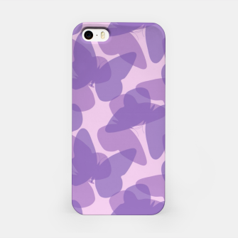 Thumbnail image of Purple Butterflies iPhone Case, Live Heroes