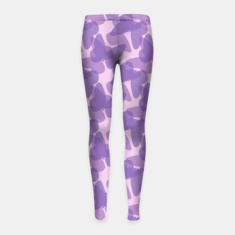 Thumbnail image of Purple Butterflies Girl's Leggings, Live Heroes