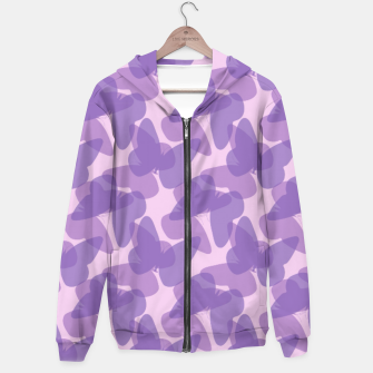 Thumbnail image of Purple Butterflies Hoodie, Live Heroes