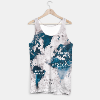 Thumbnail image of world map blue and white Tank Top, Live Heroes