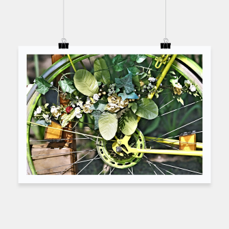 Thumbnail image of Dutch bicycle decorated with artificial flowers, Live Heroes